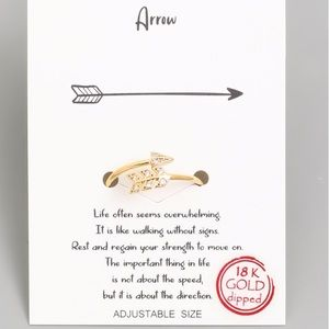 18K Gold Dipped Arrow Ring